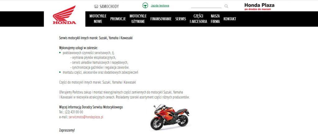 Serwis motocykli innych marek: Suzuki, Yamaha i Kawasaki