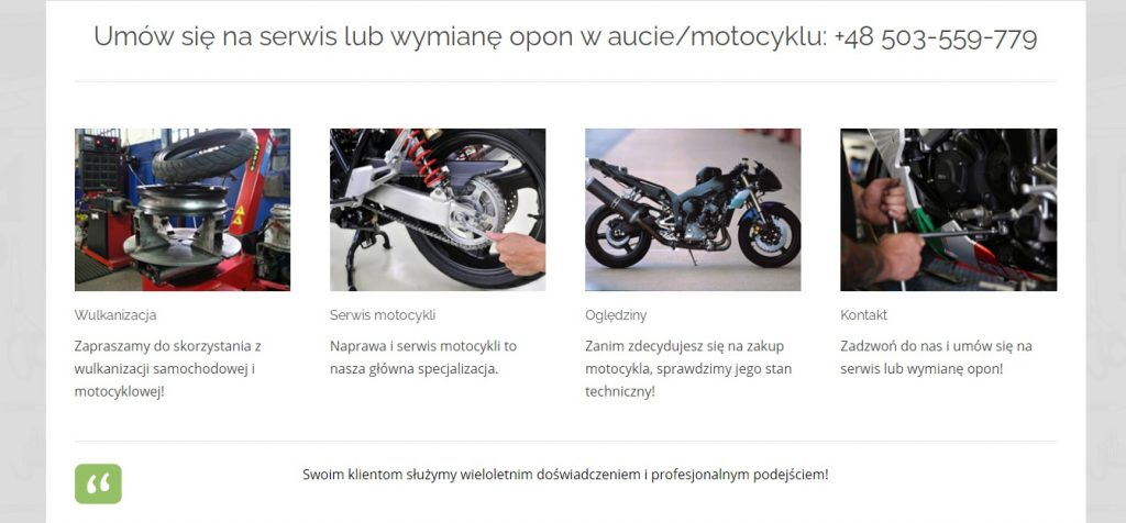 Serwis i naprawa motocykli - Umów się na serwis lub wymianę opon w motocyklu
