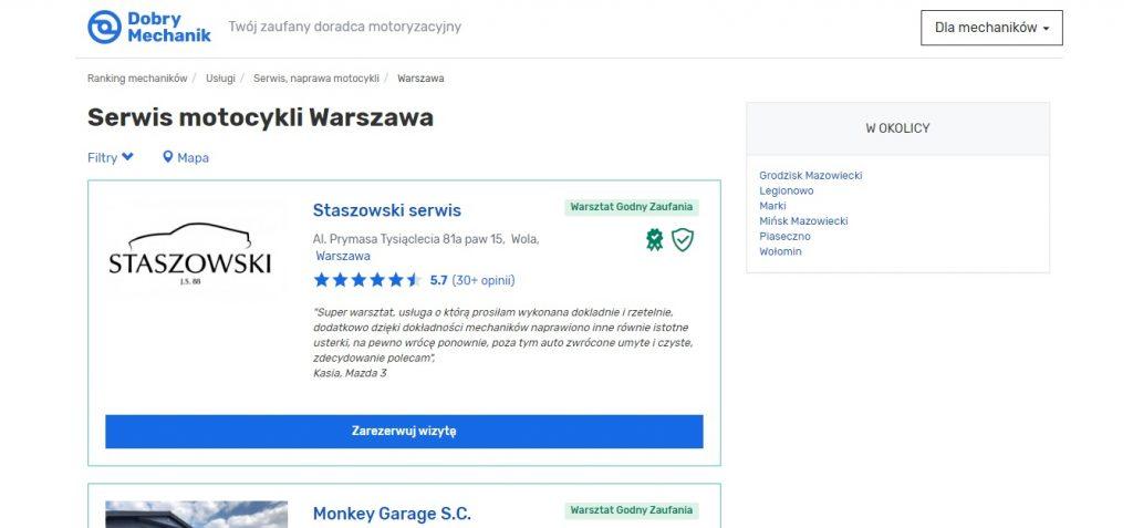 Serwis motocykli Warszawa - Dobry Mechanik