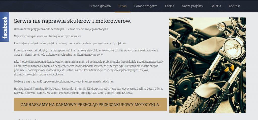 Serwis nie naprawia skuterów i motorowerów.